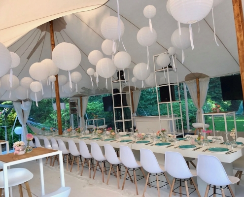 Catering tent tuin